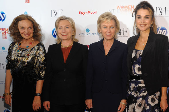 diane von furstenberg hillary clinton the daily beast tina brown queen rania women in the world summit