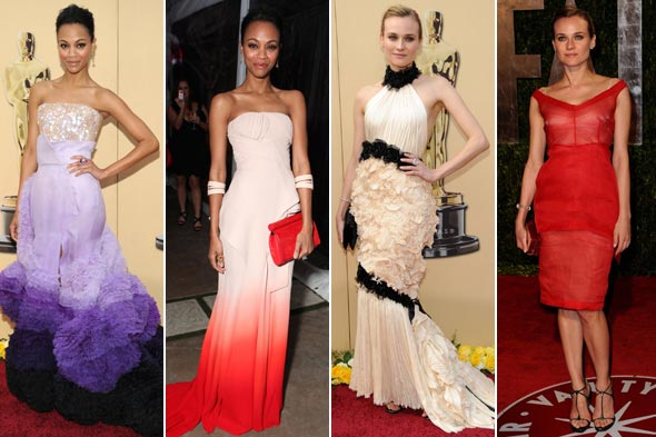Zoe Saldana and Diane Kruger Oscars 2010 Vanity Fair Oscars After Party