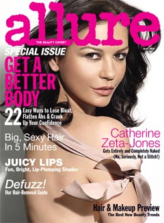 Catherine Zeta-Jones Nude Allure's May Issue