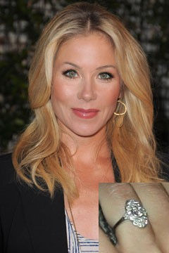 Christina Applegate Diamond Engagement Ring