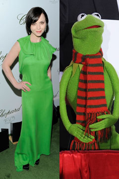 Christina Ricci versus Kermit the Frog