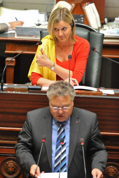 Corinne De Permentier burka Belgian Federal parliament