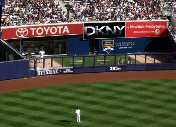 DKNY new york yankees sponsorship