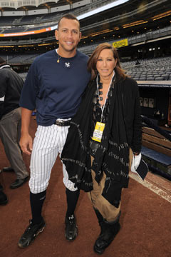donna karan alex rodriguez new york yankees