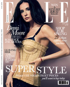 UK Elle May cover Demi Moore bustier bra