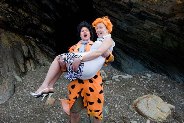 flintstones wedding fred wilma couple england
