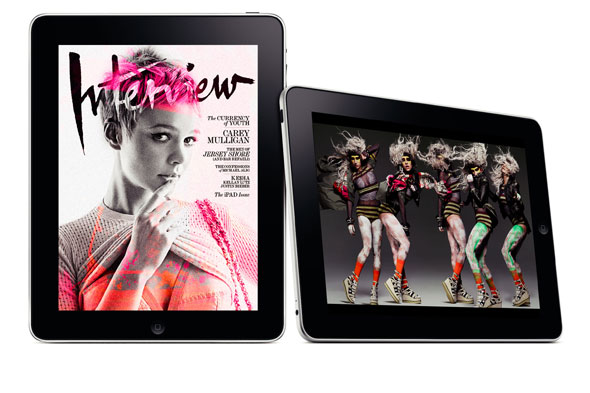 Interview Magazine iPad app april issue