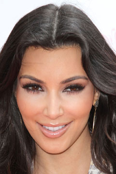 Kardashian Eyes on Kim Kardashian Accentuates Her Almond Shaped Peepers With Cat Eye