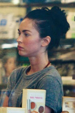 Megan Fox spotted make-up free while cosmetic shopping at Planet    Megan Fox 2012 No Makeup