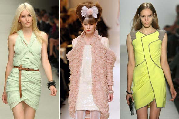 Pastels Spring 2010 runway Burberry Prorsum Chanel Haute Couture BCBG Max Azria