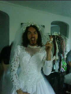russell brand wedding dress veil