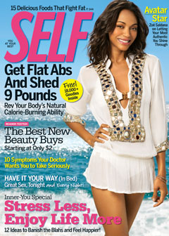 SELF Magazine May Issue Zoe Saldana
