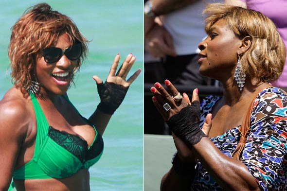 Is Serena Williams' glove a tribute to Michael? Or Madonna? Photos