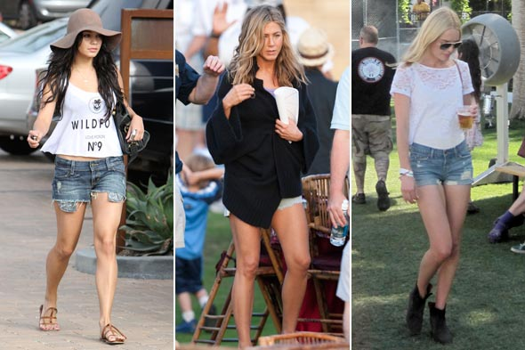 Vanessa Hudgens Jennifer Aniston Kate Bosworth short shorts