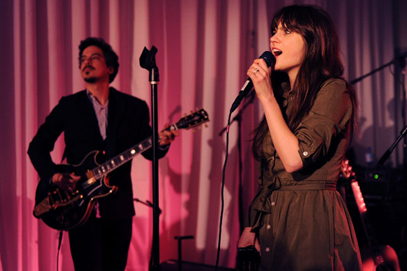 zooey deschanel singing She&Him Audi Auto Show