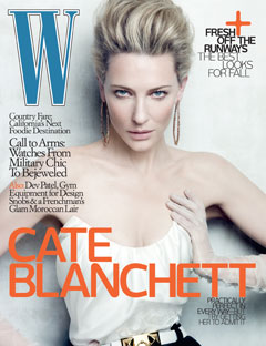 cate blanchett w magazine june 2010 hoop earrings