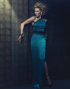cate blanchett w magazine june 2010 blue gown