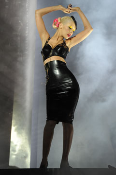 Christina aguilera black latex not myself tonight