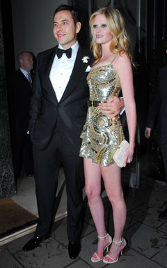 David Williams Lara Stone wedding reception givenchy dress