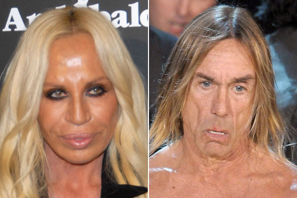 donatella versace iggy pop worst face poll