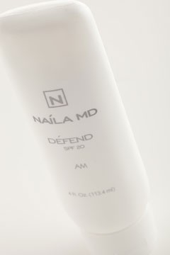 Dr. Naila Malik Skin Care Defend SPF 20 lotion.