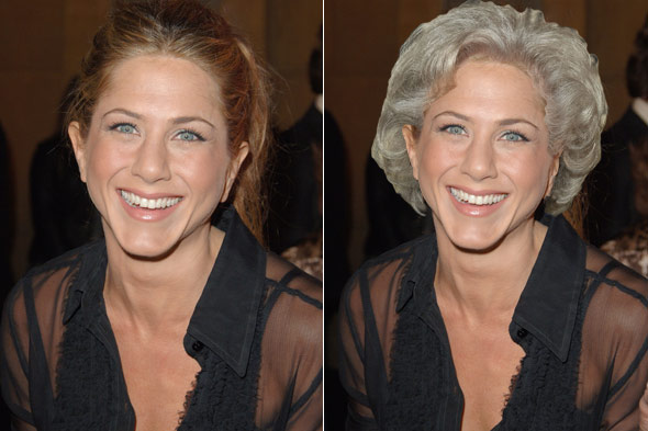 jennifer aniston betty white hair