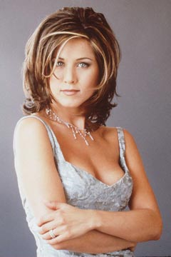 Jenn Aniston's classic 'Friends' look. Photo: Getty Images