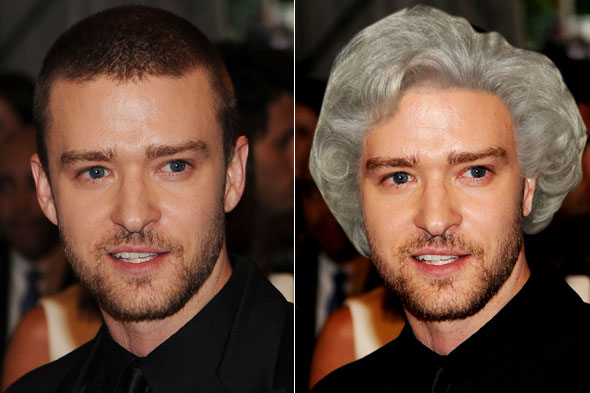 justin timberlake betty white hair