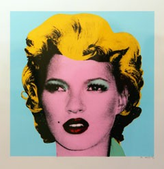kate moss painting Andy Warhol Marilyn Monroe Banksy