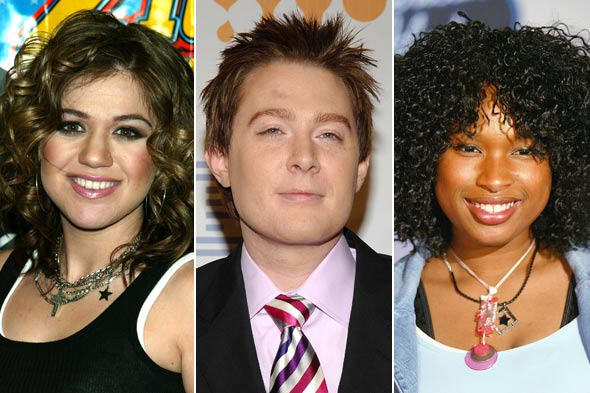 Kelly Clarkson Clay Aiken Jennifer Hudson american idol hair