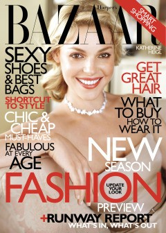 harper's bazaar katherine heigl cover june 2010 ralph lauren dress
