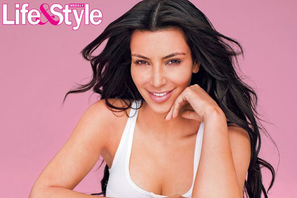 kim kardashian without makeup. Kim Kardashian Without Makeup Life & Style Magazine