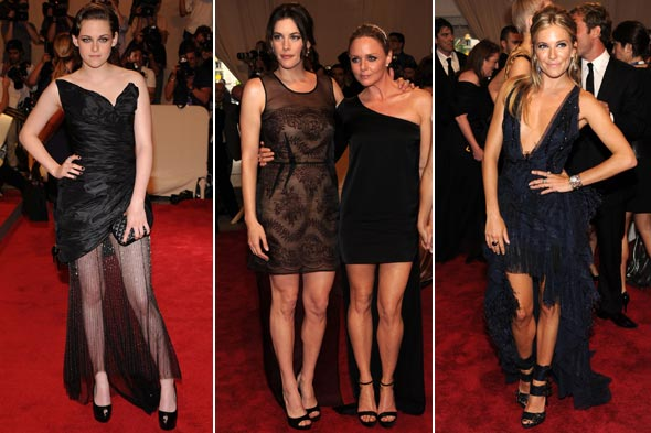 Kristen Stewart Stella McCartney Liv Tyler Sienna Miller Met Costume Institute Gala 2010 dresses with tails