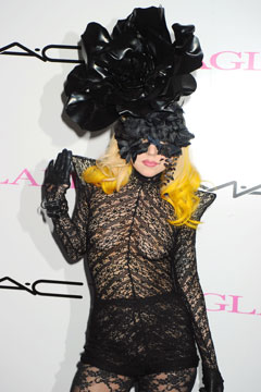 lady gaga Rigby and Peller black lace underwear