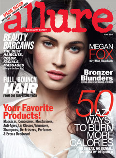 megan fox allure june 2010 cover