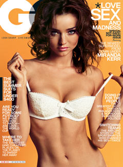 miranda kerr gq june 2010 cover white eyelet bra