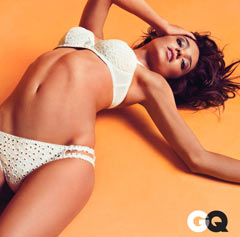 miranda kerr gq june 2010 white eyelet bra panties