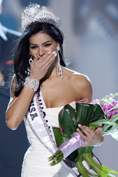 Miss USA 2010 Rima Fakih Miss Michigan crown sash