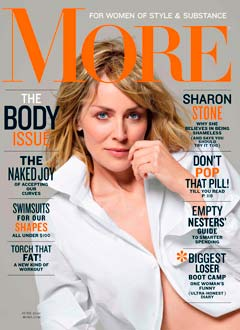 sharon stone more magazine june 2010 cover white button-down