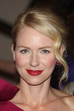 Naomi Watts red lips blond hair
