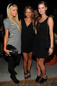 Paris Hilton Charlotte Ronson Nicky Hilton.