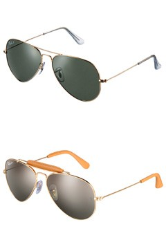 Ray-Ban Classic Aviator Ray-Ban Craft tan leather sunglasses