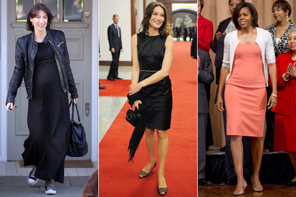 Samantha Cameron Carla Bruni Michelle Obama first ladies fashion