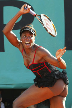 venus williams nude underwear corset tennis top
