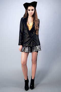 whitney eve whitney port black bow sequin shorts