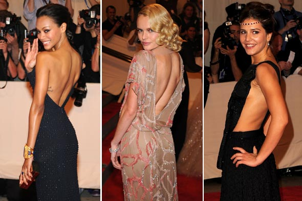 Zoe Saldana Kate Bosworth Margherita Missoni backless costume institute gala