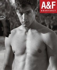Abercrombie & Fitch Quarterly in-store magazine cover naked man