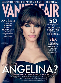 angelina jolie vanity fair cover august 2010 smoky eyes bangs bustier cleavage pink lips