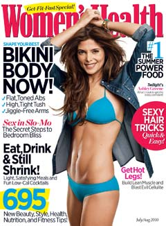 Ashley Greene blue bikini July/August 2010 Women's Health