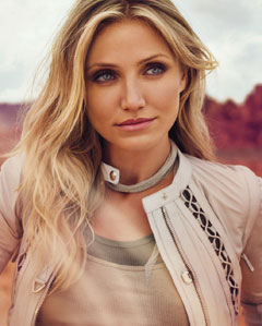 Cameron Diaz tan jacket Instyle July 2010 inside